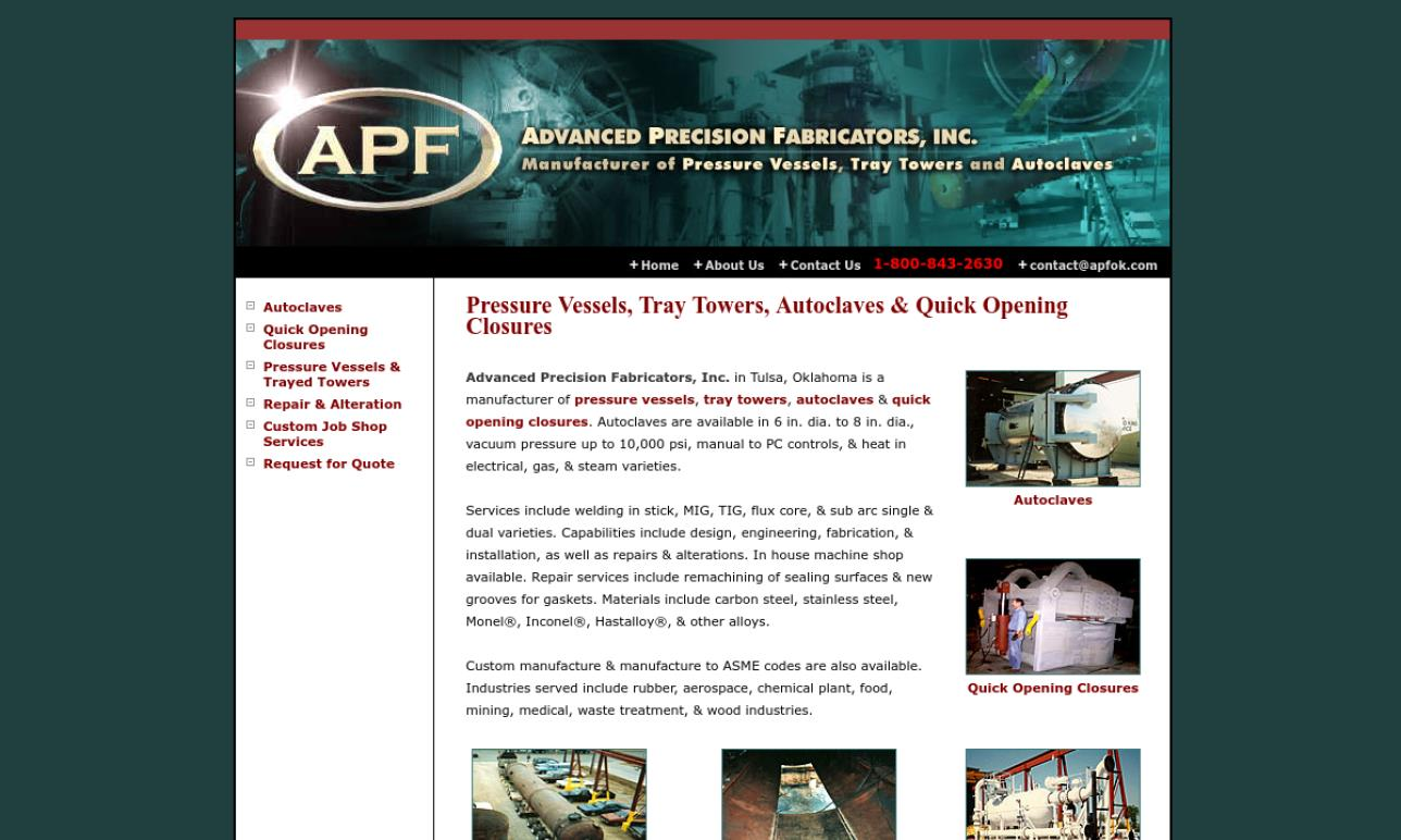 Advanced Precision Fabricators, Inc.