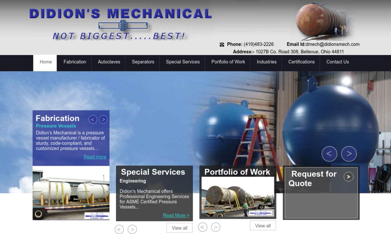 More Pressure Vessel Manufacturer Listings