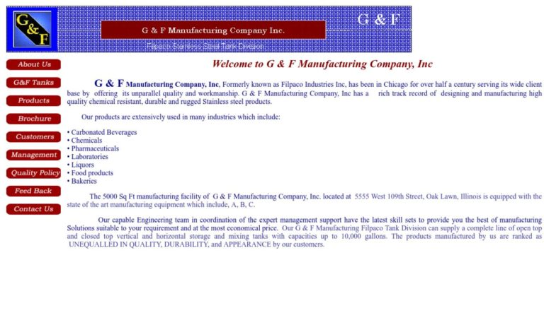 G & F Manufacturing Company, Inc.